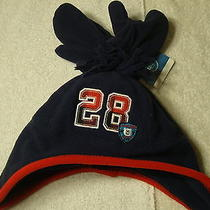 New Carters Fleece Hat Mittens Set Boys Blue Red 12-24 Months Photo