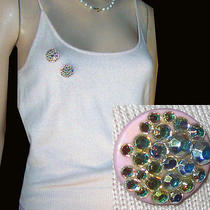 New Cashmere Silk Cami W Rhinestone Brooch M 150 Pale Pink Laundry Shelli Segal Photo