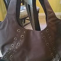 New Casual Chic Handbag Leather Like Magnetic Snap Closure Handle Drop Avon Photo