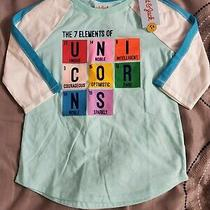 New Cat &jack Girls Teal Periodic Table Elements of Unicorn T-Shirt Size 6/6x S Photo
