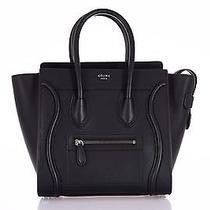 New Celine Bag Black Micro Luggage Drummed Calfskin  Photo