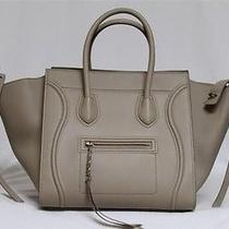 New Celine Beige Phantom Luggage Smooth Leather Medium Tote Bag Photo