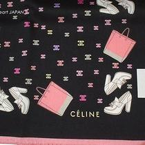 New Celine Cotton Scarf Monogram Handbag Shoes Print Black Japan-Ltd Licensed Photo