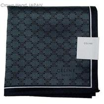 New Celine Handkerchief / Mini Scarf Monogram Logo Unisex Japan-Made Rare Photo