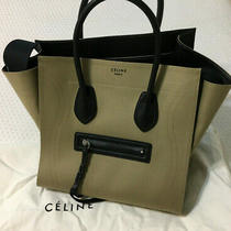 New Celine Medium Luggage Beige Canvas/leather Bag Photo