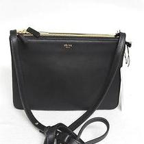 New Celine Trio Small Black Luggage Leather Messenger Bag Photo