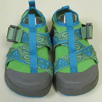 New Chaco Ecotread  Little Kids Green & Aqua Blue Water Beach Shoes Sz 10 Nwt Photo