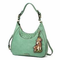 New Chala Sweet Tote Hobo Teal Green Gift Crossbody Shoulder Bag Goat Coin Purse Photo
