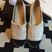 New Chanel Canvas Beige/black Size 39 Fits Like 38 Photo
