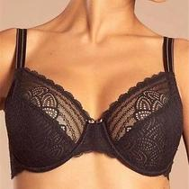New Chantelle 1741 Merci 3 Part Cup Bra 32c Black Photo