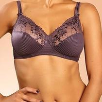 New Chantelle Intimates 'Pont Neuf' Wireless Bra Purple Size 34dd 1382 Photo