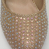 New Chase & Chloe Wedding Prom Pageant Party Rhinestone Bling Round Pump Shoes Photo