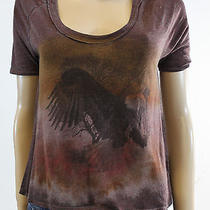 New Chaser Urban Outfitters Burgundy American Eagle Short Sleeve Tee Size Large Photo