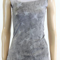 New Chaser Urban Outfitters Grunge Faded Star Tank Top Tee in Gray Size Small Photo