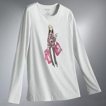New Chic Shopping Girl Graphic Printed Top T Shirt Tee Blouse Cotton Vera Wang S Photo