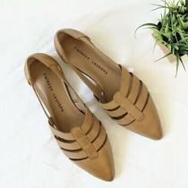 New Chinese Laundry Leather Camel Brown Pointy Toed Flats Shoes Size 9.5 Photo