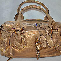 New Chloe Antique Bronze Paddington Leather Purse Gtd Authentic Photo