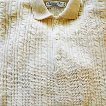 New Christian Dior  Cable Wool Sweater Xl Photo