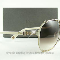 New Christian Dior Sunglasses Chicago 2/str Rose Gold Ivory Upufm Authentic Photo