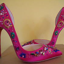 New Christian Louboutin Artifice Grenadine 120 Strass 385 (Like Pigalle) Photo