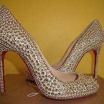New Christian Louboutin Fifi 100 Ring Strass Size 37  Photo