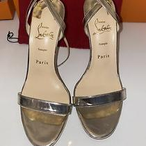 New Christian Louboutin Gold Sandal Red Bottom - Leather - 8.5us / 39 Photo