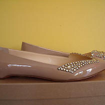 New Christian Louboutin Pigalle Pigalove Flat Nude Patent Ring Strass 385  Photo
