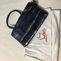 New Christian Louboutin Snakeskin Clutch Bag With Dust Bag. Photo