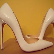 New Christian Louboutin So Kate White Patent Size 405  Like Pigalle Photo