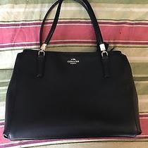 New Christie Black Leather Coach Handbag Photo