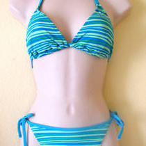 New Christina Halter Bikini Swimsuitsz 8/10aqua&green Photo