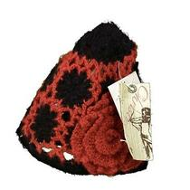 New Christys Crown Series Kurai Skully Knit Womens Hats Red Black One Size  Photo