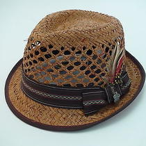New Christys Crown Series Natural Straw Fedora Trilby Hat Size Large Photo