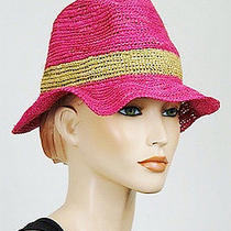 New Christys Hats by Tony Merenda Raffia Sunhat Womens Hats Pink O/s  Photo