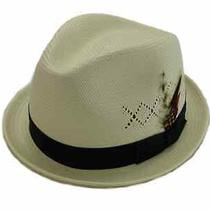 New Christys London Genuine Shantung Hand Woven Straw Fedora Hat Size L Photo