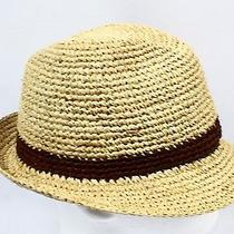 New Christys' London Khaki Beige  Mens Size S/m Panama Straw Hat 125- 482 Photo