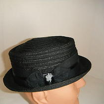 New Christys' Porkpie Hat Black Large  New  Photo