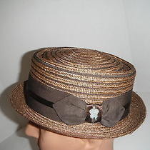 New Christys' Porkpie Hat Brown Large  New  Photo