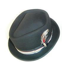 New Christys Wool Felt  Porkpie Fedora Hat Black Diamond Crown Xl New Photo