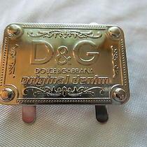 New Chrome D & G Dolce & Gabbana Purse Handbag Emblem Photo