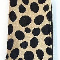 New Clare Vivier v. Leopard Hair Business Card Wallet Clutch Case Iphone Leather Photo