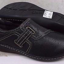 New Clarks Collection Womens Ashland Blush Black Leather Shoes 01707 Size 9 M Photo