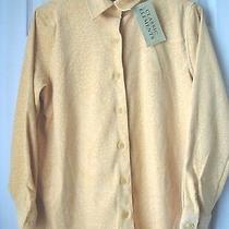 New Classic Elements Women Button Down Shirt Yellow Size s(6-8) Photo