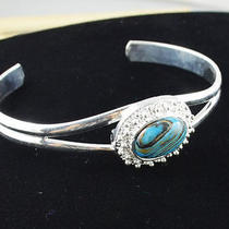 New Classical Natural Hot Turquoise Cute S80 Silver Bracelet    N24874 Photo
