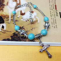 New Classical Natural Hot Turquoise Cute S80 Silver Bracelet    Fdg124 Photo