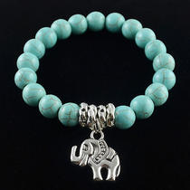 New Classical Natural Hot Turquoise Cute Tibet Silver Bracelet    A241 Photo