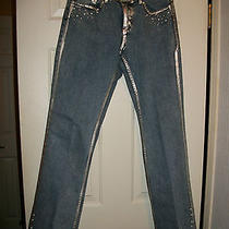New Clearanced Bebe Fashion Jeans Bead & Paint Embellishments Photo