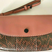 New Coach 1941 Glove Tunned Leather Snake Skin Embossed Clutch Wristlet Mauve  Photo