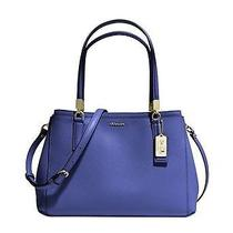 New Coach 30128 Madison Small Christie Carryall in Saffiano Leather Lacquer Blue Photo
