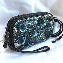 New Coach 31834 Sadie Crossbody Clutch With Sequins Crossbody Shoulder Bag Purse Photo